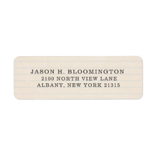 Vintage Journal Paper Typestyle | Return Address Label