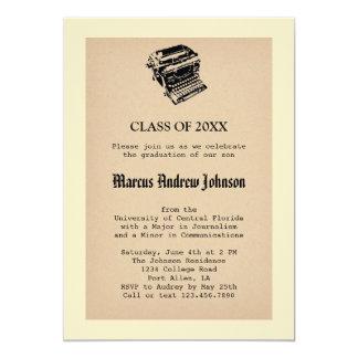 Vintage Journalism Graduation Invitation