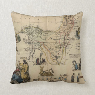 Vintage journeying of_the Israelites,Throw Pillow