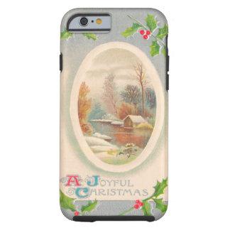 Vintage Joyful Christmas Tough iPhone 6 Case