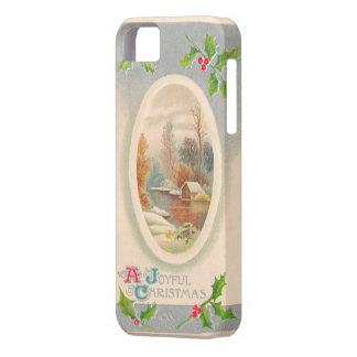 Vintage Joyful Christmas iPhone 5 Case