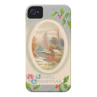 Vintage Joyful Christmas Case-Mate iPhone 4 Cases