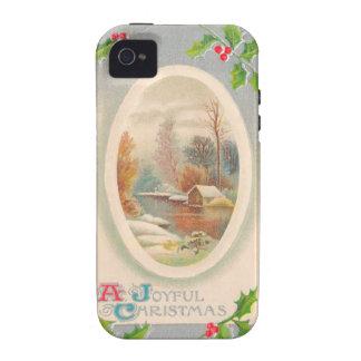 Vintage Joyful Christmas iPhone 4/4S Cover