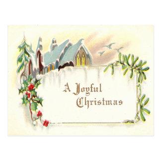 Vintage Joyful Christmas Postcard