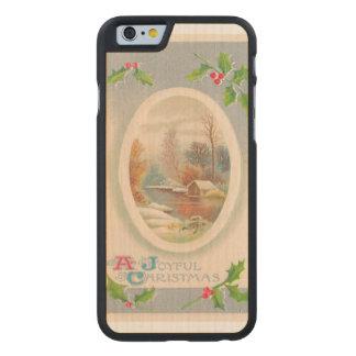 Vintage Joyful Christmas Carved® Maple iPhone 6 Case