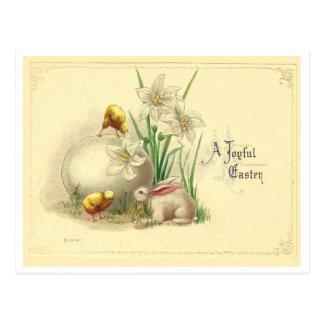 Vintage Joyful Easter Postcard