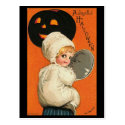 Vintage Joyful Halloween Baby Postcards