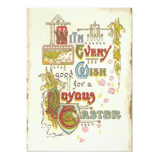 Vintage Joyous Easter Brunch Card