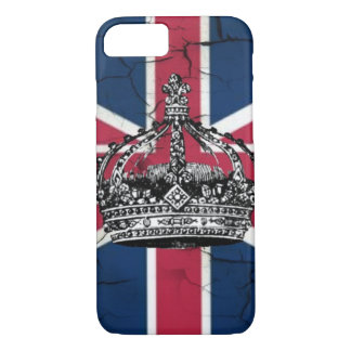 vintage jubilee british flag union jack crown iPhone 7 case