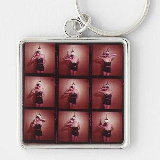Vintage JuJu Rose Keychain