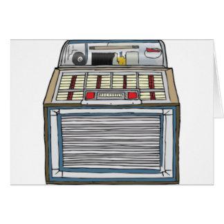 Vintage Jukebox Card