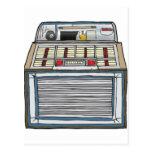 Vintage Jukebox Postcard