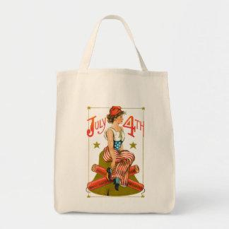 Vintage July 4th Tote Bag