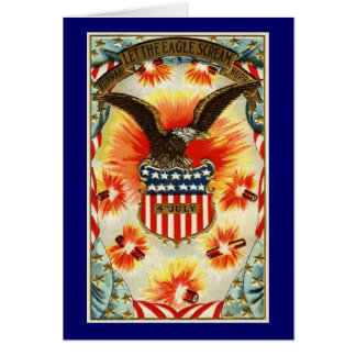 Vintage July 4th Note Card