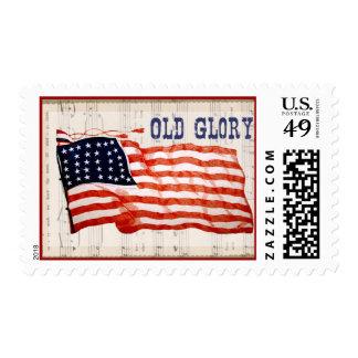 Vintage July 4th Old Glory Postage