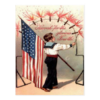 Vintage July 4th Postcard