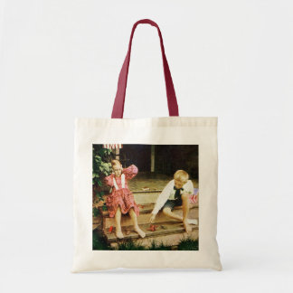 Vintage July Fourth Fun Tote Bags