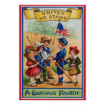 Vintage July Fourth poster