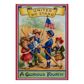 Vintage July Fourth poster