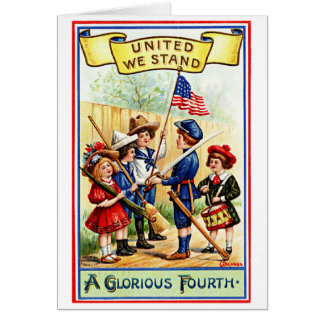 Vintage July The Fourth United We Stand Cards