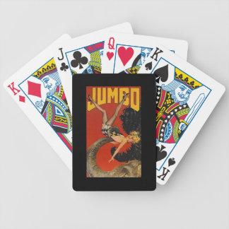 Vintage Jumbo Elephant Act Ads Advertising Cards