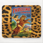 Vintage Jungle Comic Cover Mouse Pad