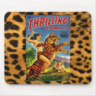 Vintage Jungle Comic Cover Mouse Pad