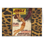 Vintage Jungle Pulp Cover Card