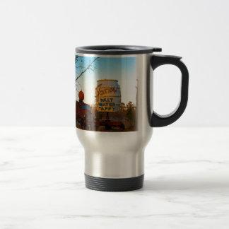 Vintage Junk Yard Salt Water Taffy Sign Coffee Mugs