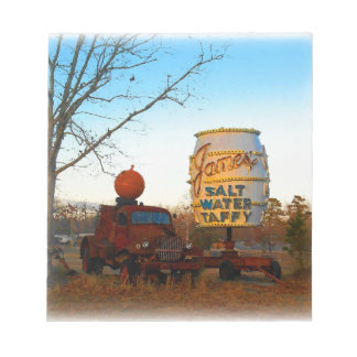 Vintage Junk Yard Salt Water Taffy Sign Notepad