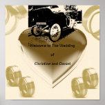 """""""Vintage Just Married Car""""* Print"""