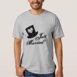 Vintage just married t shirt for groom husband