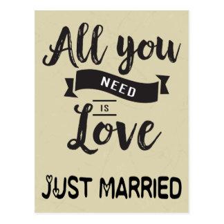 Vintage Just Married Postcards   Zazzle  Vintage Just Married