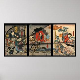 Vintage Kabuki Poster 1847