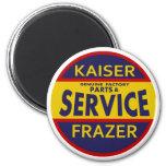 Vintage Kaiser Frazer service sign red/blue Fridge Magnets