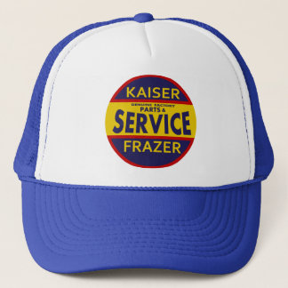 Vintage Kaiser Frazer service sign red/blue Trucker Hat