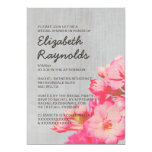 "Vintage Kalanchoe Bridal Shower Invitations 5"" X 7"" Invitation Card"