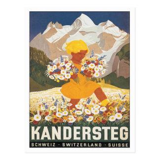 Vintage Kandersteg Switzerland Postcard