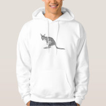 Vintage Kangaroo Lineart Hoodie