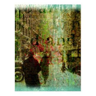 Vintage Kansas City Grunge Collage Postcard
