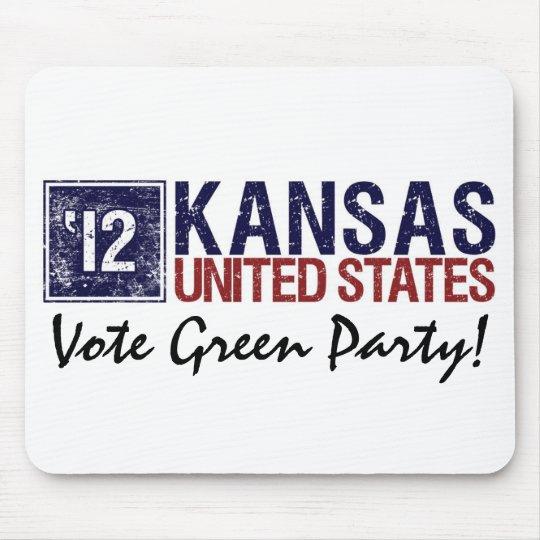 Vintage Kansas del Partido Verde del voto en 2012  Alfombrilla De Ratones