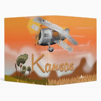 """""""Vintage Kansas Wheat field Travel Poster"""" """"kansas 3 Ring Binder"""
