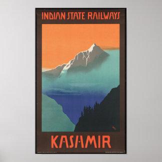 Vintage Kashmir Travel Poster
