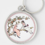 Vintage Kate Greenaway Book Illustration Key Chain