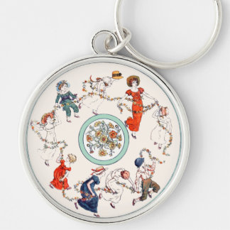 Vintage Kate Greenaway Book Illustration Keychain