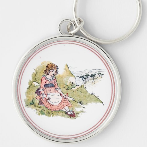 Vintage Kate Greenaway Book Illustration Keychains