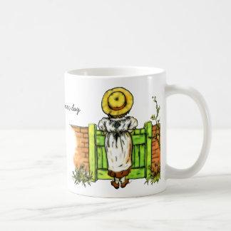 Vintage Kate Greenaway New Day Inspiration Coffee Mug