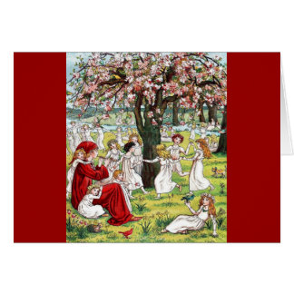 Vintage Kate Greenaway The Pied Piper of Hamelin Card