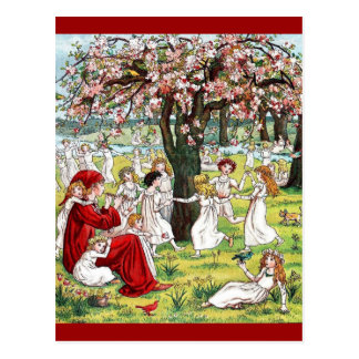 Vintage Kate Greenaway The Pied Piper of Hamelin Postcard