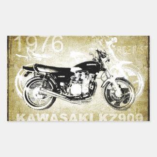 Vintage Kawasaki KZ900 Motorcycle Rectangular Sticker